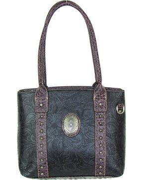 Savana Women's Fierce Tooled Professional Carry Handbag , Black, hi-res