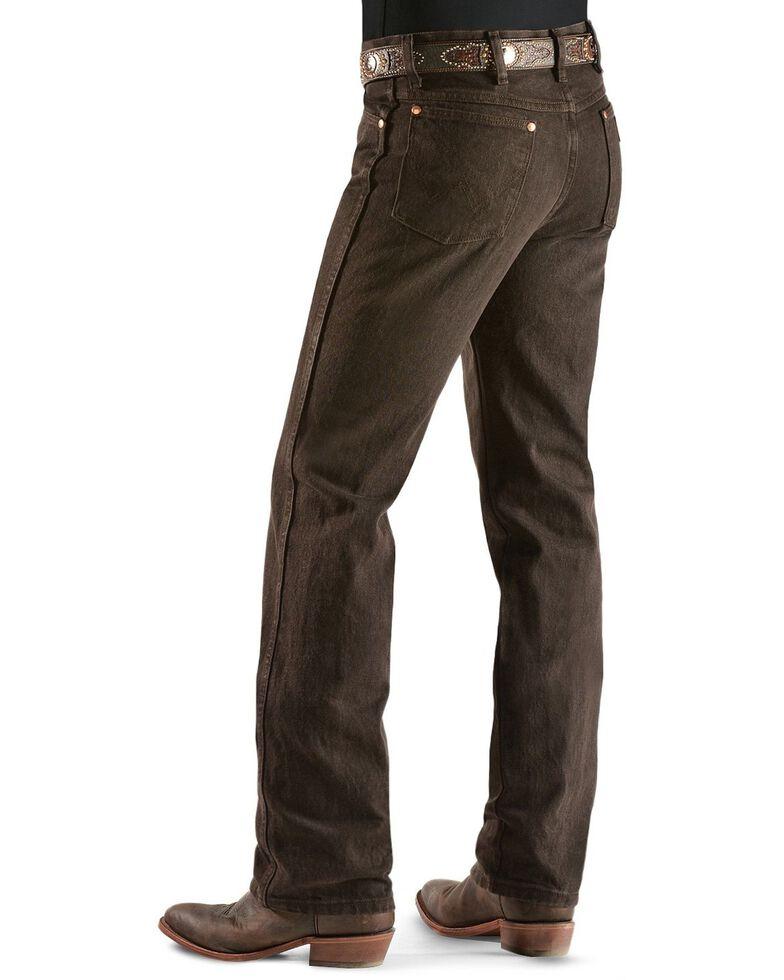 Wrangler Men's 936 Cowboy Cut Slim Fit Jeans - Prewashed Colors, Chocolate, hi-res