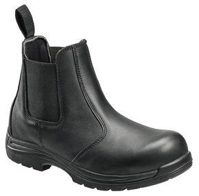 Avenger Men's Anti-Slip Uniform Work Boots - Composite Toe, Black, hi-res