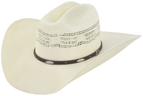 Justin 20X Bowie Straw Cowboy Hat, Natural, hi-res