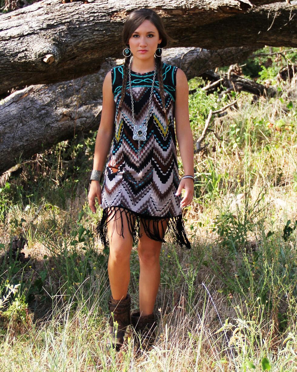 R Cinco Ranch Women's We Stand Sleeveless Dress, Print, hi-res