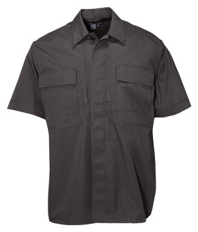 5.11 Tactical Taclite TDU Short Sleeve Shirt - Tall Sizes (2XT - 5XT), Black, hi-res