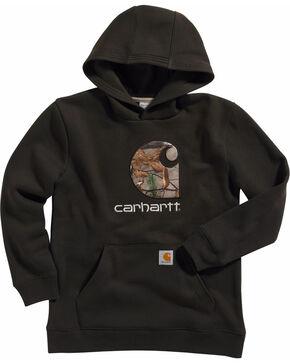 Carhartt Boys' Big Camo C Sweatshirt, Brown, hi-res