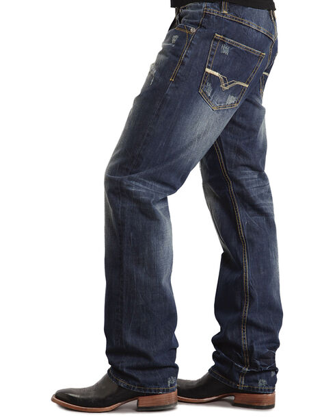 "Stetson 1520 Fit ""V"" & ""X"" Stitched Jeans, Dark Stone, hi-res"