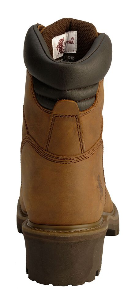 "Chippewa IQ Tough Oblique 8"" Logger Boots - Steel Toe, Bark, hi-res"
