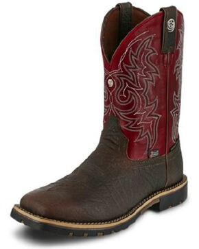 Justin Men's George Strait Tumbled Coffee Western Boots - Square Toe, Brown, hi-res