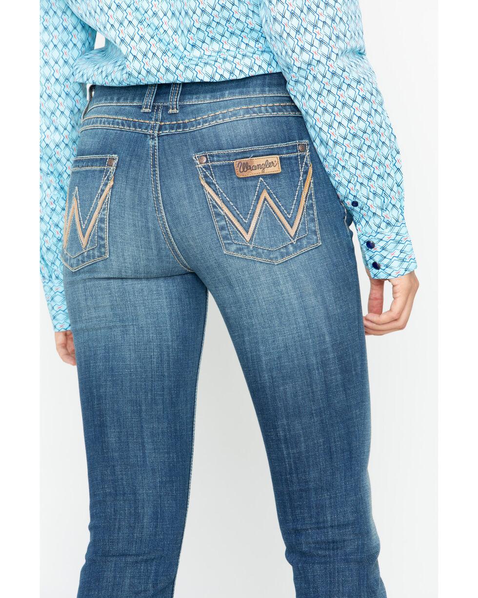 Wrangler Retro Women's Mae Wild Roost Mid-Rise Boot Cut Jeans, Indigo, hi-res