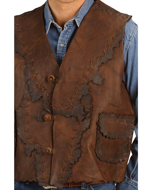 Kobler Antiqued Leather Vest, Brown, hi-res