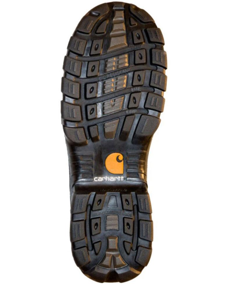 """Carhartt Men's 6"""" Rugged Flex Waterproof Work Boots - Composite Toe, Dark Brown, hi-res"""