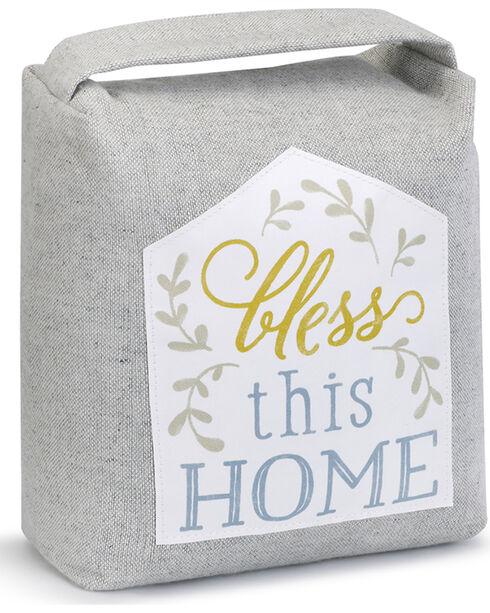 Demdaco Bless This Home Door Stopper , Grey, hi-res