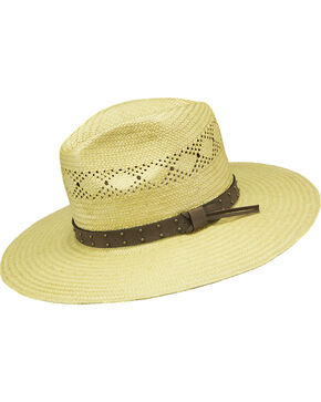 Peter Grimm Men's Natural Marco Straw Hat , Natural, hi-res