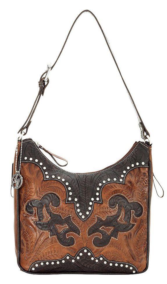 American West Annie's Secret Collection Concealed Carry Shoulder Bag, Brown, hi-res