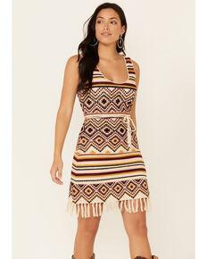Idyllwind Women's Chilli Havana Nights Crochet Fringe Dress, Chilli, hi-res