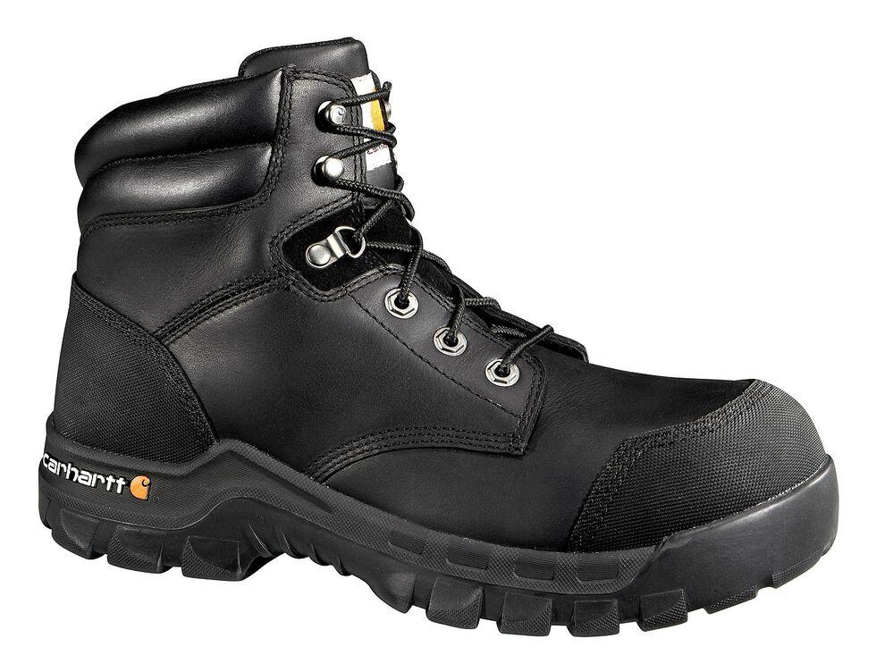 "Carhartt 6"" Composite Toe Rugged Flex Waterproof Work Boots, Black, hi-res"