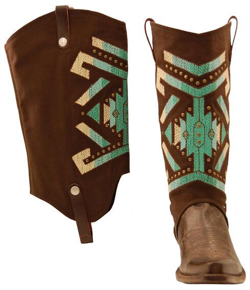 BootRoxx Aztec Rain Boot Covers, Brown, hi-res