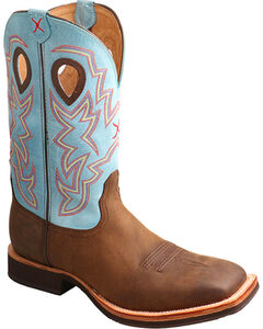 Twisted X Men's Brown Horseman Boots - Square Toe , Brown, hi-res