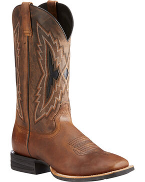 Ariat Men's Relentless Top Notch Western Boots - Square Toe, Brown, hi-res