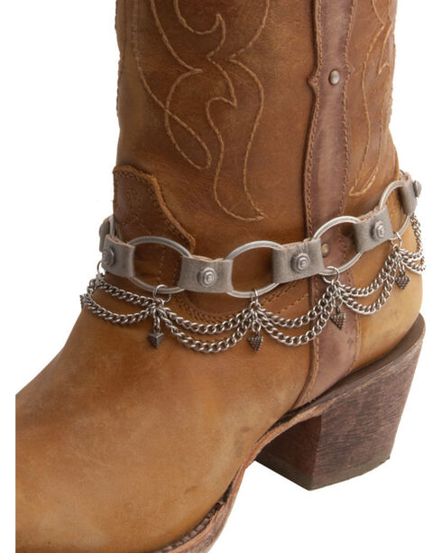 AndWest Women's Silver Sweet Steppin' Link Boot Chain , Silver, hi-res