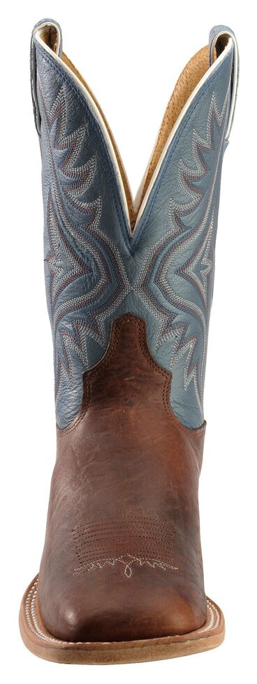 Tony Lama Americana Cowboy Boots - Square Toe, Pecan, hi-res