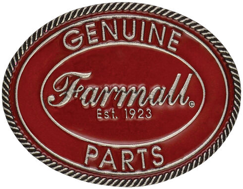 Montana Silversmiths Case IH Medium Vintage Red Genuine Parts Belt Buckle, Silver, hi-res