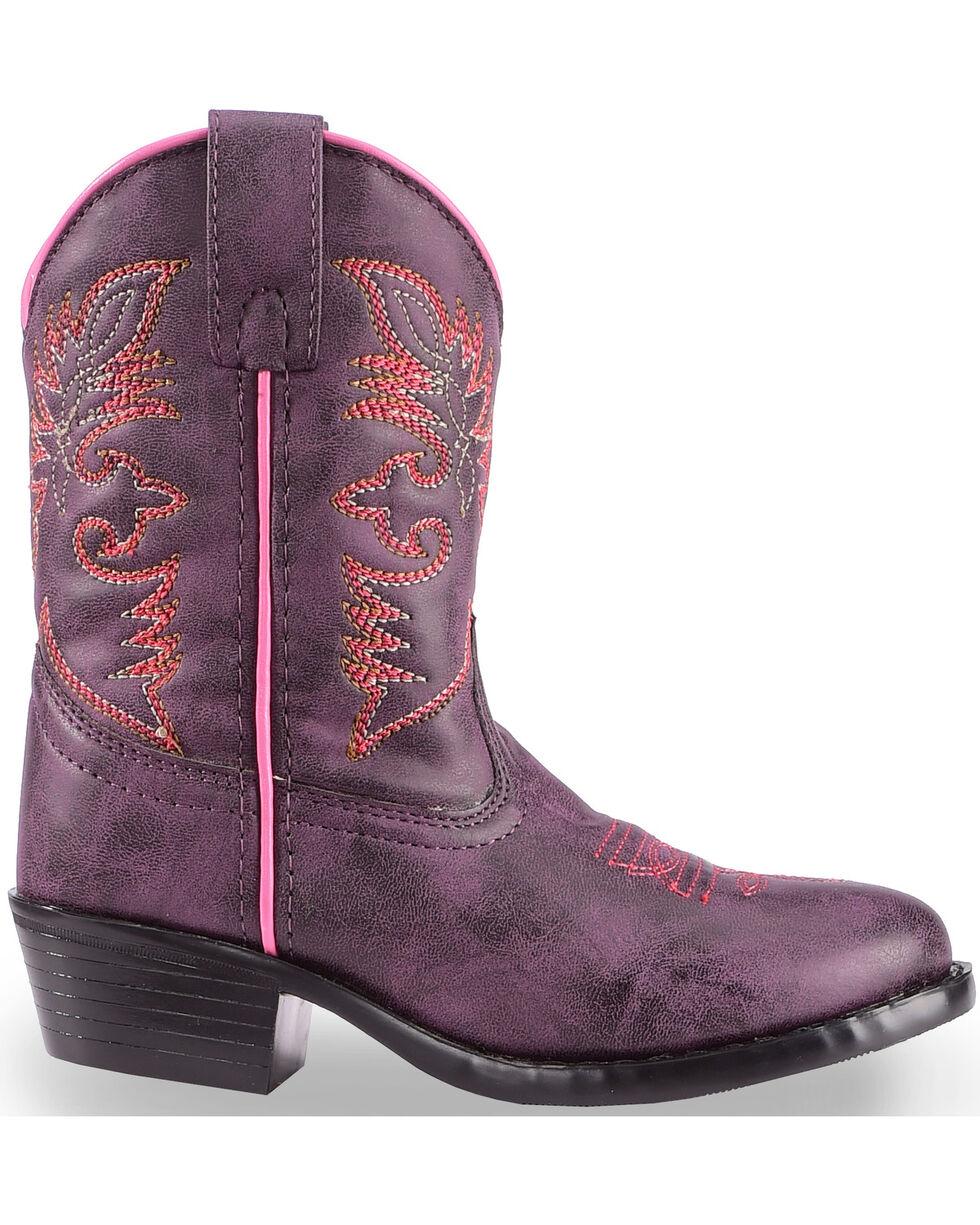 Laredo Girls' Purple Cowboy Boots - Round Toe , Purple, hi-res