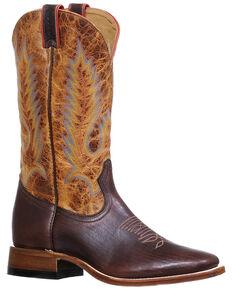 Boulet Men's Cognac Western Boots - Round Toe, Cognac, hi-res