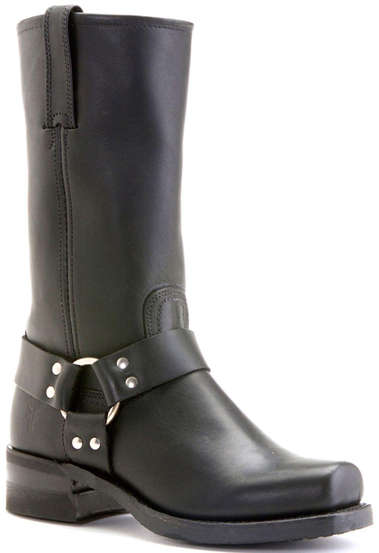 Frye Men's Harness Engineer 12R Boots - Square Toe, Black, hi-res