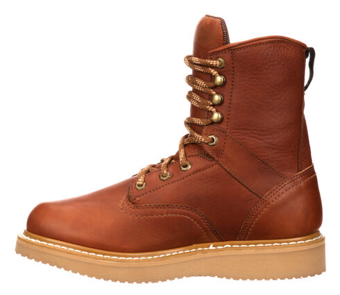 Georgia Wedge Work Boots - Steel Toe, Brown, hi-res