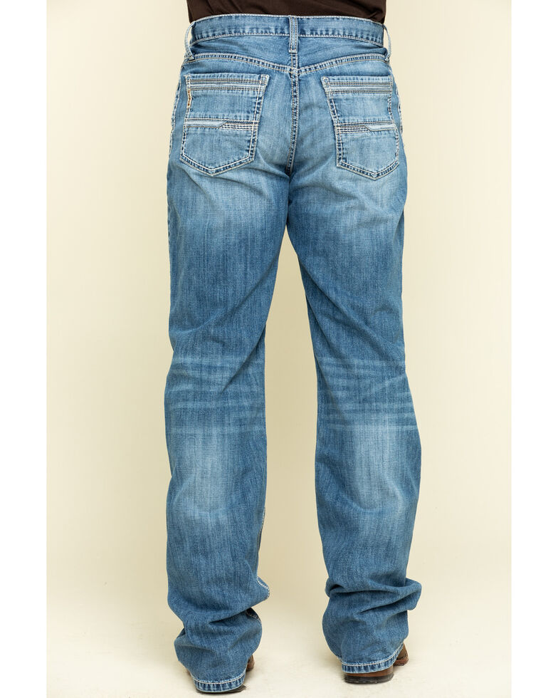 Cinch Men's Grant Light Stone Performance Relaxed Bootcut Jeans , Indigo, hi-res