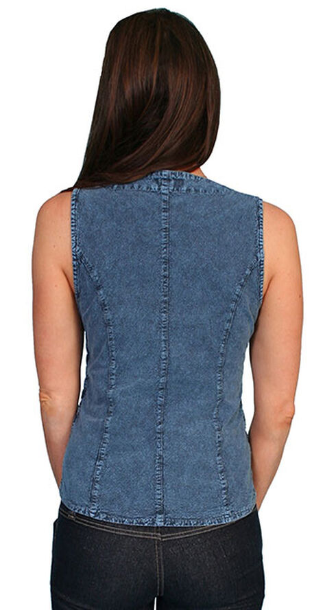 Scully Peruvian Cotton Laced Tank Top, Blue, hi-res