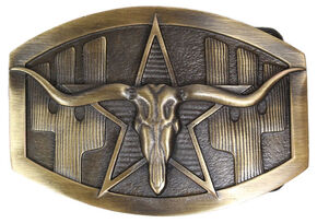 Cody James Men's Longhorn Buckle, Multi, hi-res