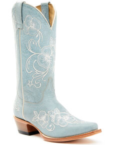 Shyanne Women's Lena Boot - Pointed Toe, Blue, hi-res