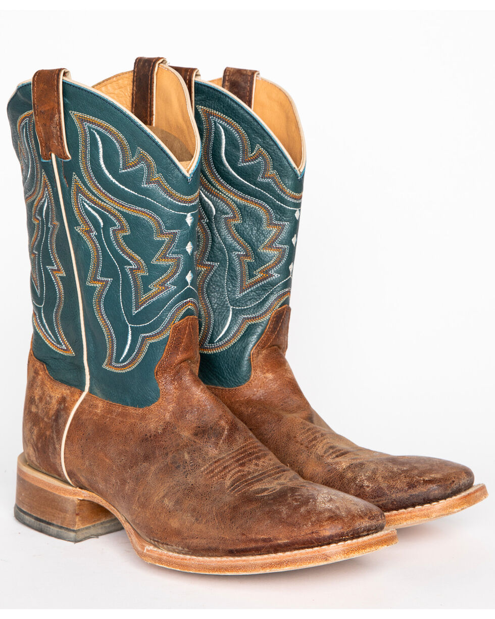 Cody James Men's Blue Cowboy Boots - Square Toe, Navy, hi-res