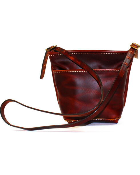SouthLife Supply Women's Brick Mini Cross Body Bag, Mahogany, hi-res