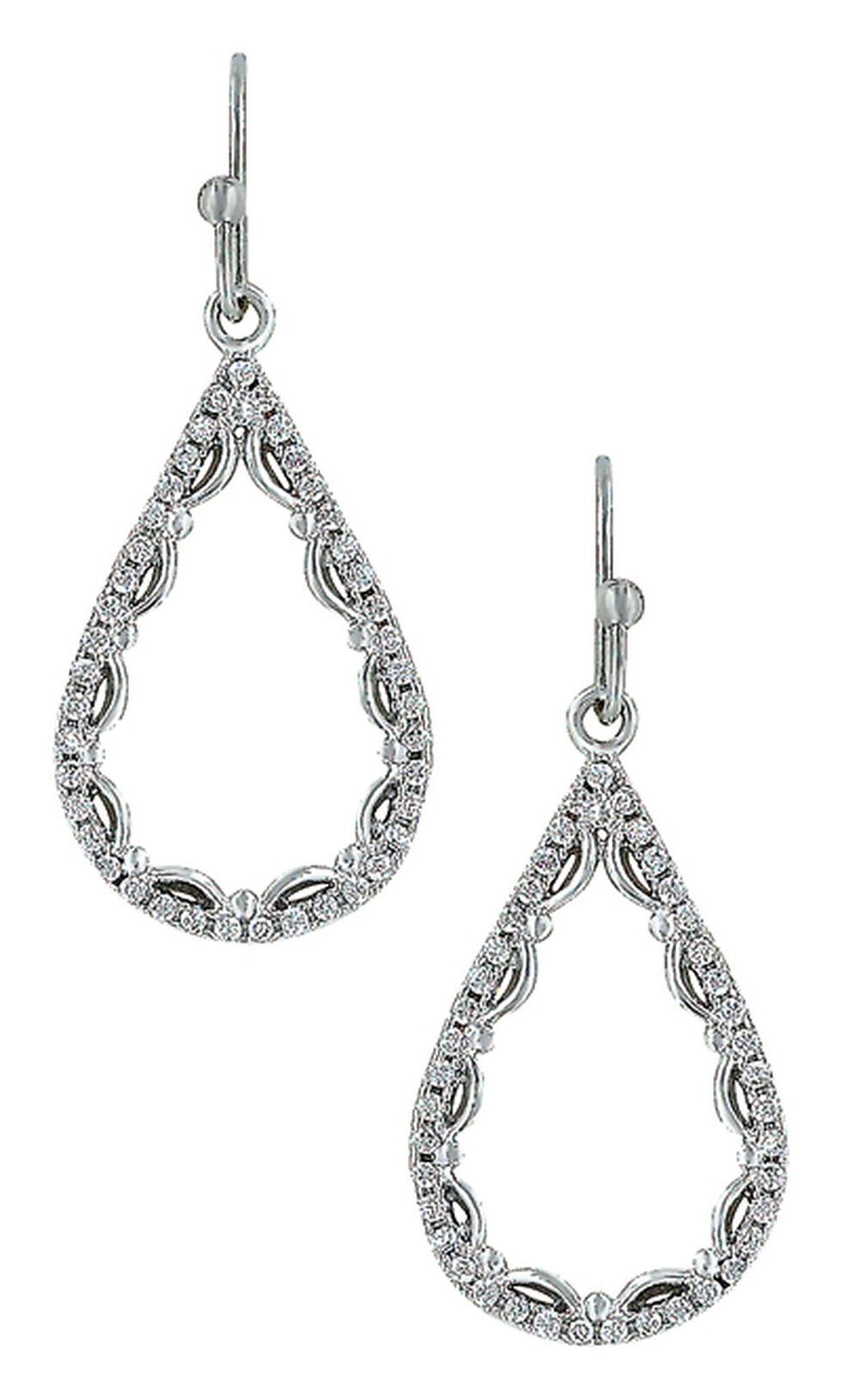 Montana Silversmiths Women's Laced Teardrop Earrings, Silver, hi-res