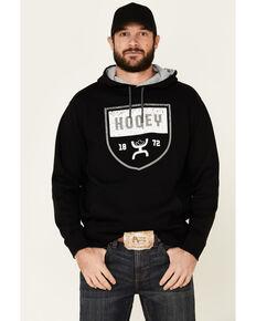 HOOey Men's Black Crest Logo Graphic Hooded Sweatshirt, Black, hi-res