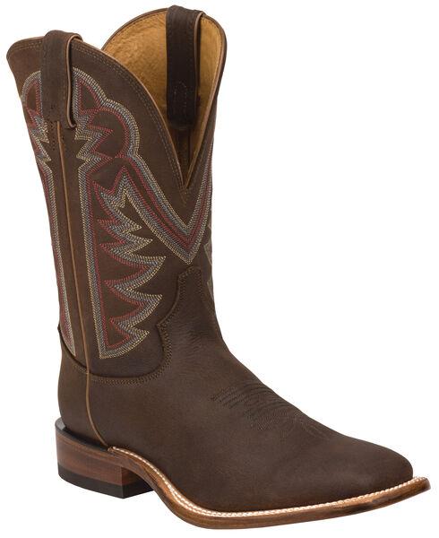Tony Lama Oiled Mocha Americana Stockman Cowboy Boots - Square Toe , , hi-res