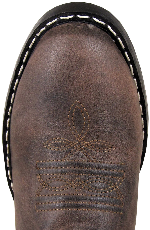 Smoky Mountain Toddler Girls' Monterey Western Boots - Round Toe, Brown, hi-res
