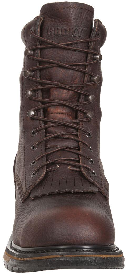 Rocky Original Ride Waterproof Western Lacer Boots - Safety Toe, Dark Brown, hi-res
