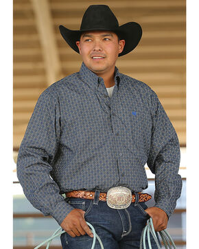 Cinch Men's Grey Contrasting Trim Western Shirt , Grey, hi-res
