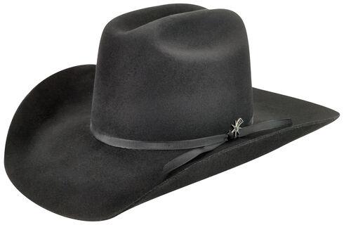 Bailey Men's Harshaw 2X Black Cowboy Hat , Black, hi-res
