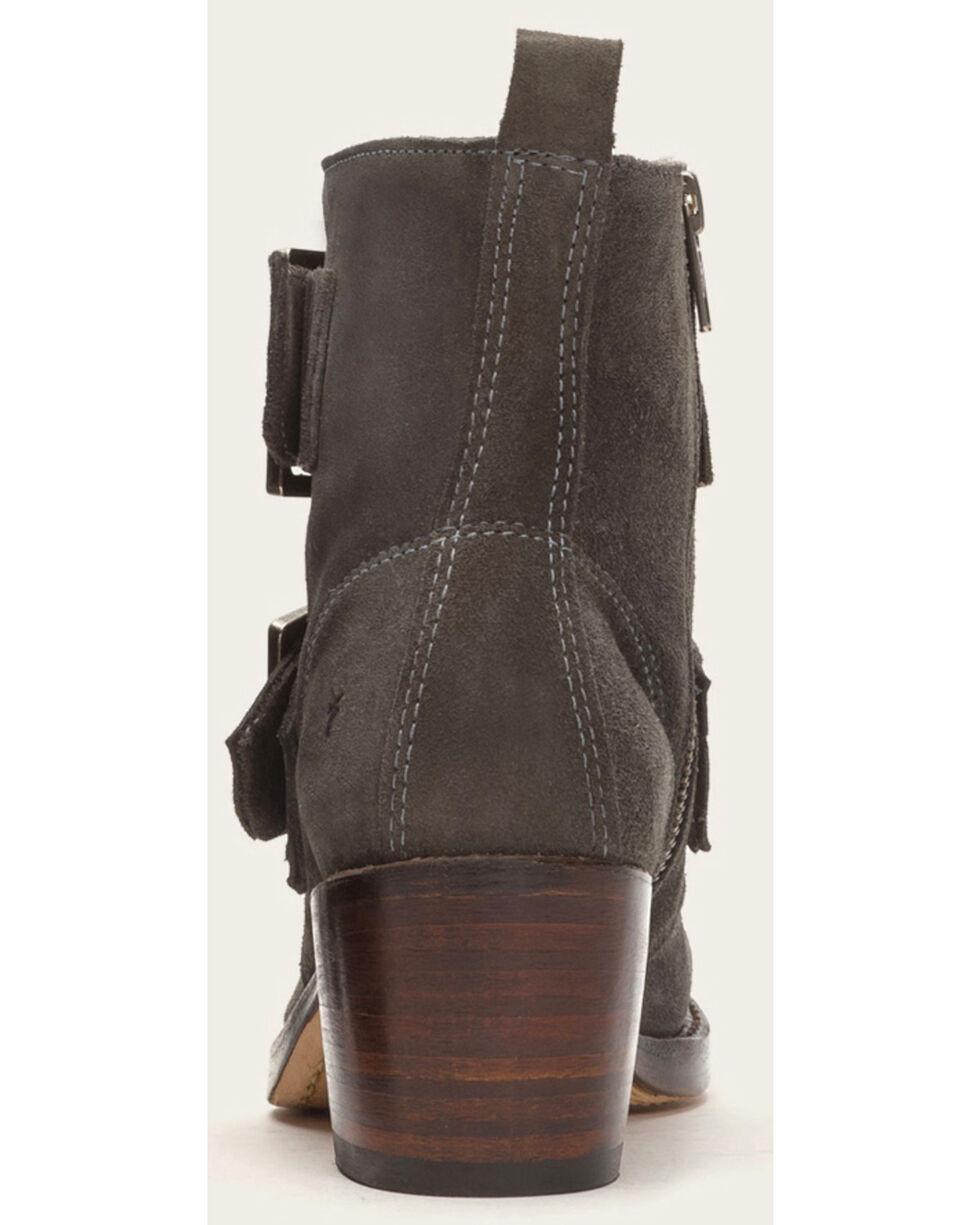 Frye Women's Sabrina Double Buckle Charcoal Suede Boots , Dark Grey, hi-res
