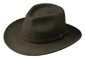 Outback Trading Co. High Country UPF50 Sun Protection Crushable Wool Hat, Serpent, hi-res