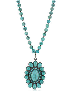 Montana Silversmiths Women's Revolving Teardrops Turquoise Necklace, No Color, hi-res