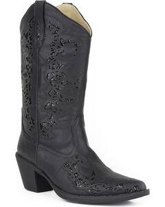 Roper Women's Black Alisa Fashion Boots - Pointed Toe , Black, hi-res