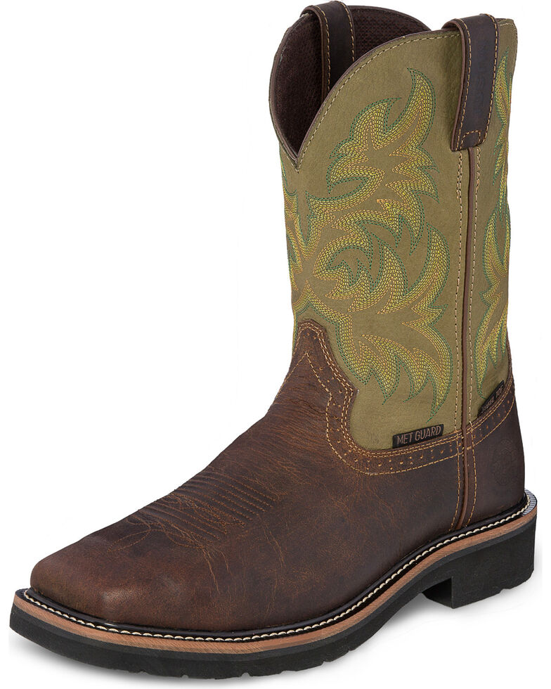 Justin Men S Stampede Keavan Metguard Eh Waterproof Work