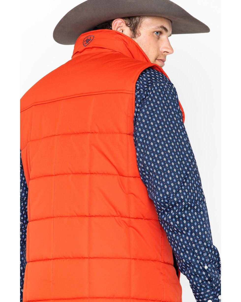 Ariat Men's Orange Crius Insulated Tiger Paw Full Zip Vest , Orange, hi-res