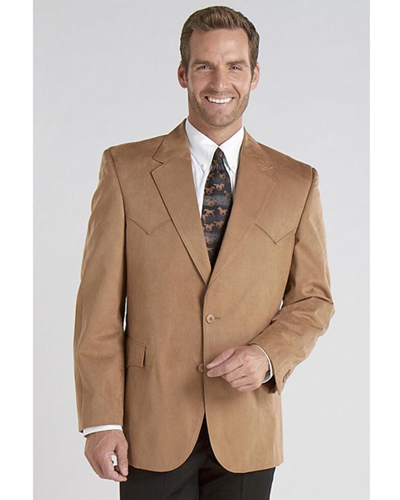 Circle S Men's Camel Microsuede Sport Coat - Tall, Camel, hi-res