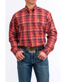 Cinch Men's Multi Med Plaid Button Long Sleeve Western Shirt , Multi, hi-res