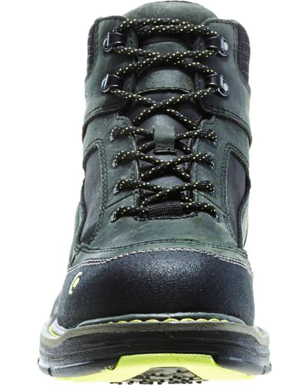 "Wolverine Men's Overman 6"" Lace-Up WP Work Boots - Safety Toe, Grey, hi-res"